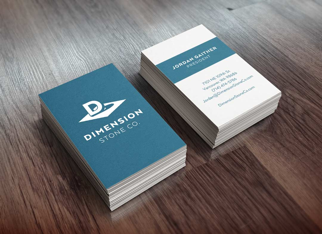 Dimension Stone Co. Business Cards